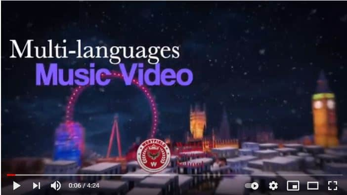 """Multi Languages Music Video, """"Last Christmas"""" by Westfield Culture Club"""
