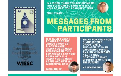 Thank you message from WIESC speech contest participants